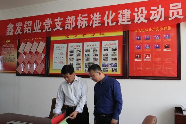 杨村镇党委书记督导非公企业党组织标准化建设